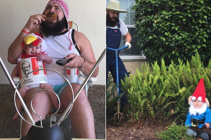 This Genius Dad Dresses Up His Daughter In The Cutest Outfits EVER!