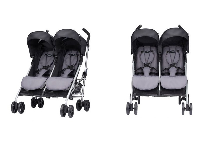Evenflo Evolve 2x Double Stroller Grey