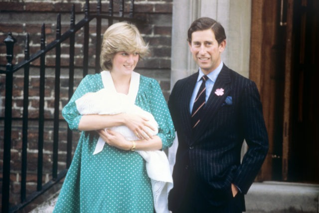 The Prince and Princess of Wales after the birth of William in 1982 (PA)