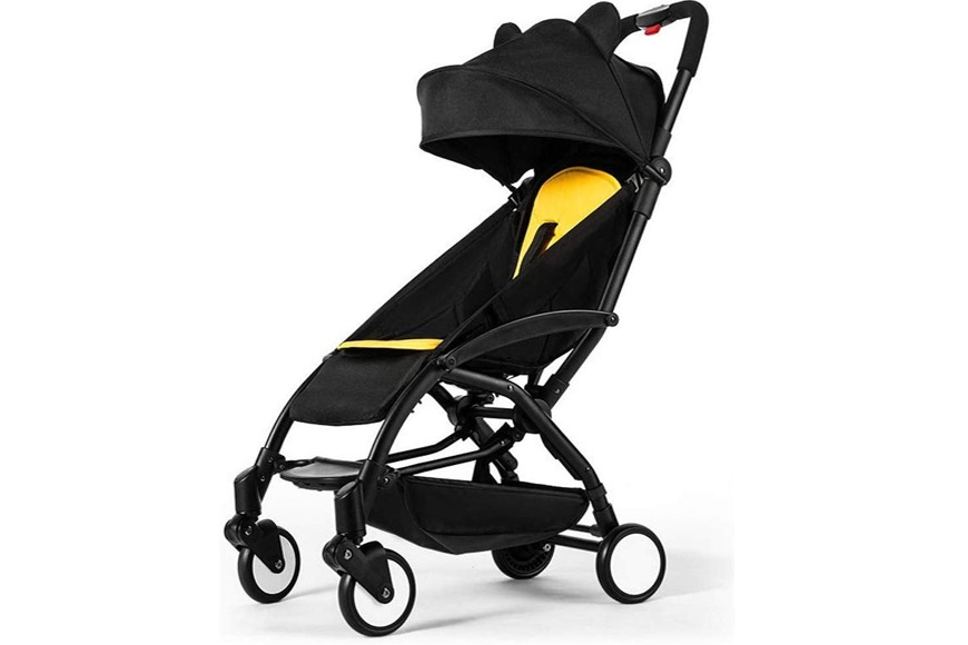 Easy one-hand fold baby stroller