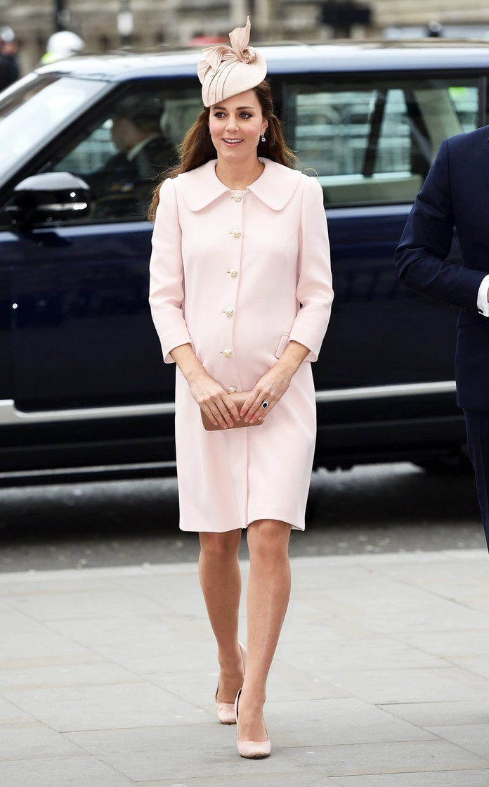 Royal, feminine, and chic! That's how Kate looked in this pale pink Alexander McQueen coat.