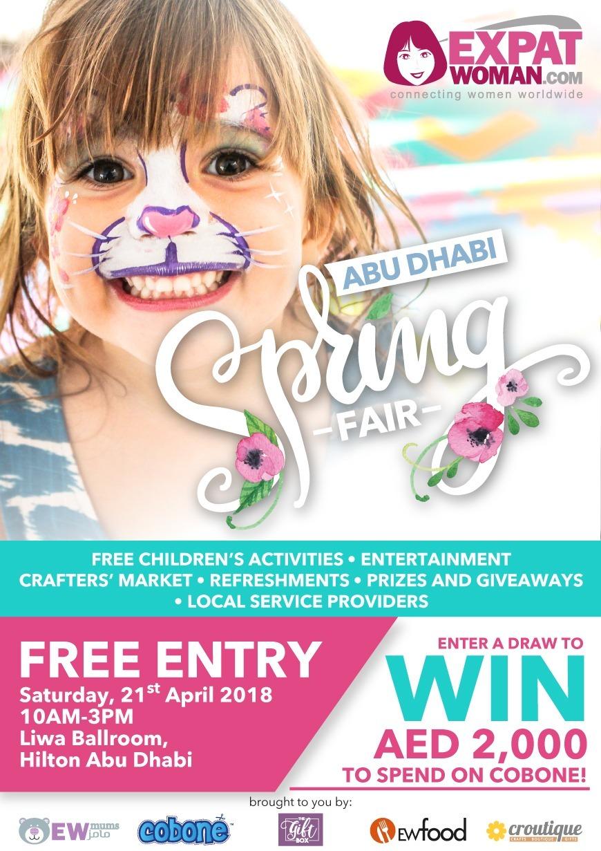 ExpatWoman's Abu Dhabi Spring Fair Is Back Again April 2018