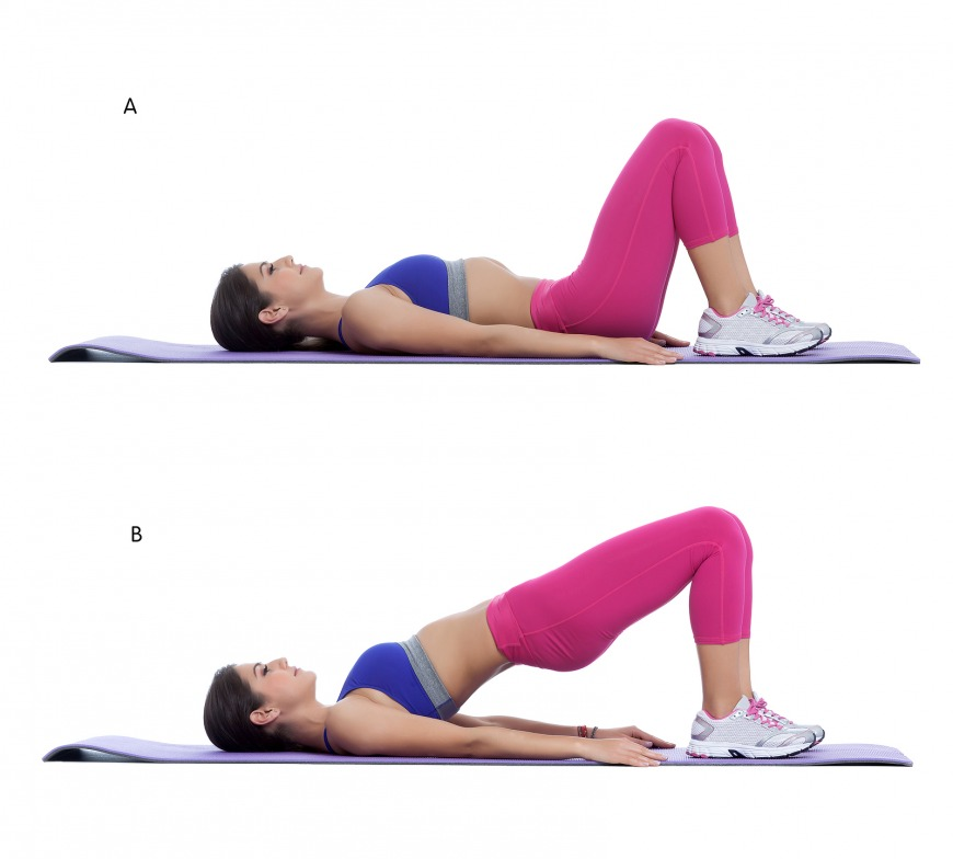 Hip raises, great for activating and strengthening the core, back and glutes