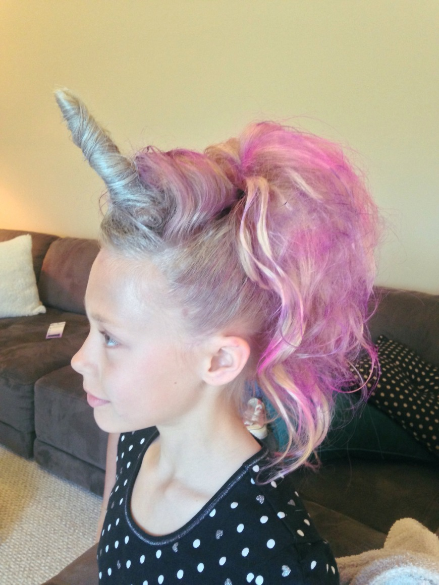 Girl hairstyles for summer - unicorn hair