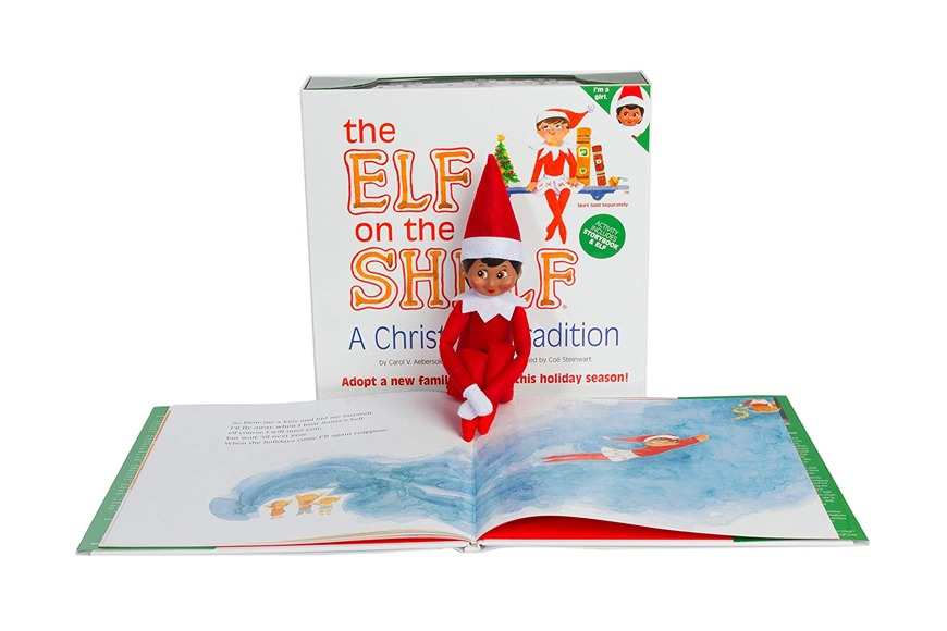 Elf on the Shelf: A Christmas Tradition with book and elf