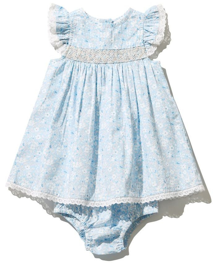 M&Co Floral Smock Dress And Knickers