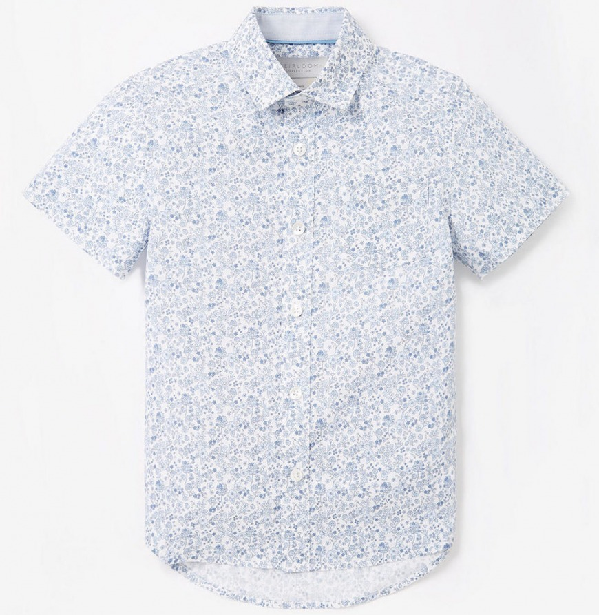 John Lewis & Partners Heirloom Collection Boys' Floral Shirt