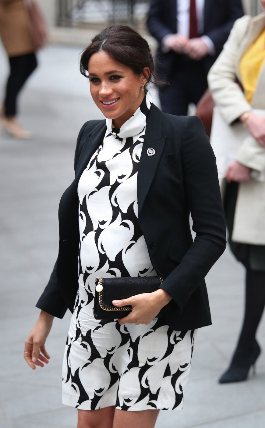 Showing her bump: The Duchess of Sussex on International Women's Day