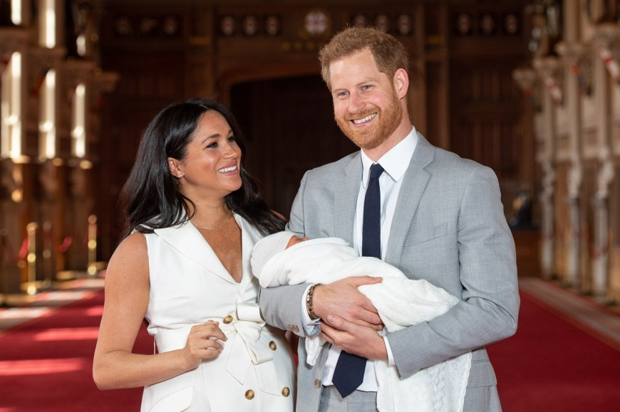 Harry, Meghan and their newborn Archie