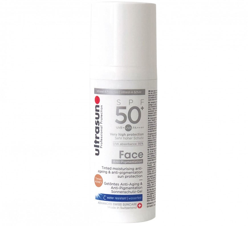 Ultrasun Sun Protection Anti-Pigmentation Tinted Face SPF 50+, £36/AED160.78, QVC