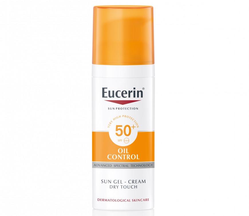 Eucerin Sun Gel-Creme Oil Control SPF 50+, £15.99/AED71.41, Superdrug