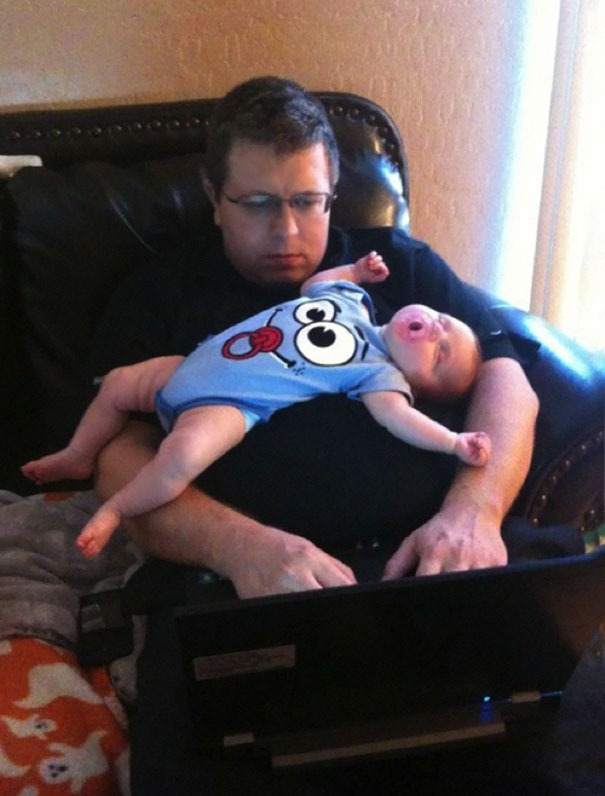 Why Dads Shouldn't Be Left Alone With Children - in Pictures