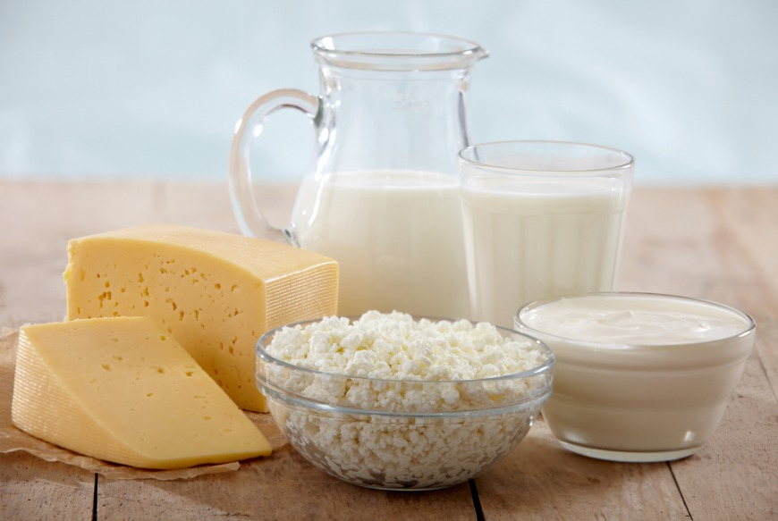 Dairy products for conceiving