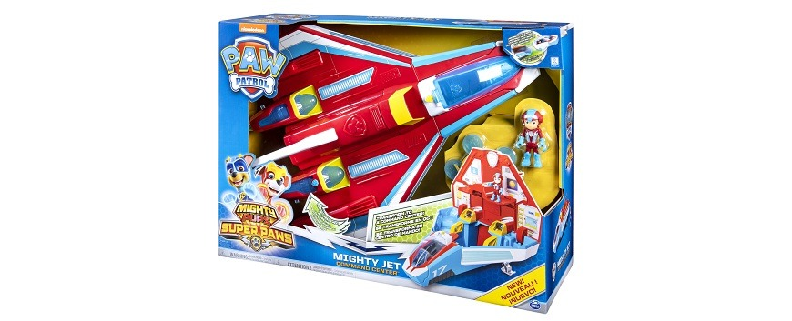 Spin Master Toys PAW Patrol Mighty Pups Super PAWs Mighty Jet Command Centre