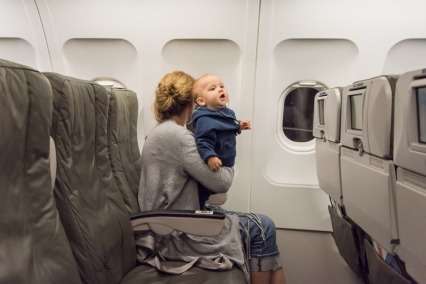 Giving birth on a plane
