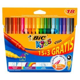 #12. Bic Coloring Felt Pen Visa 18pcs
