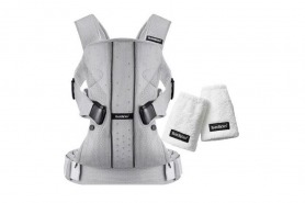 Baby Bjorn - Baby Carrier One With Teething Pad - Silver Mesh