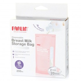 Farlin Breast Milk Storage Bag 200ml 22 Bags
