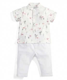 Flamingo Polo Shirt & Chinos Set by Mamas & Papas