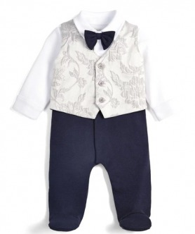Jacquard Waistcoat All-in-One by Mamas & Papas
