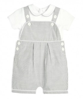 Striped Dungarees and T-Shirt 2 Piece Set by Mamas & Papas
