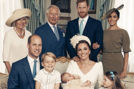 Official Portraits from Prince Louis' Christening